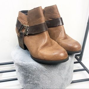 Aldo Brown Buckle  Booties Size 7.5 EUC